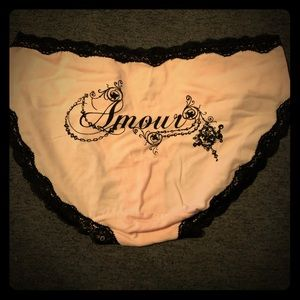 Pink and Black Amour Cotton Hipster Style Panty